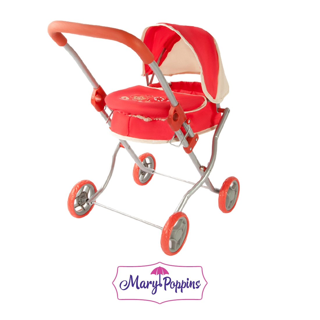Коляска-люлька для куклы Наша игрушка Божья коровка коляска для куклы lokotoys четырехколесная с поддоном красная