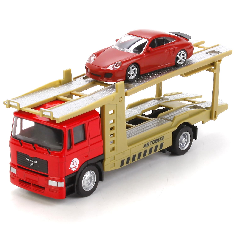Машина Технопарк Автовоз с машинкой 242508 игровой набор dave toy аэропорт с 1 машинкой