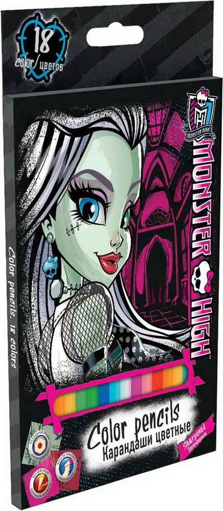 Ручки и карандаши Monster High Monster High 18 шт centrum карандаши цветные monster high