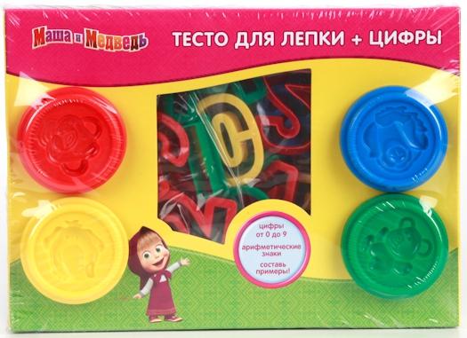 Купить Лепка из пластилина, Маша и Медведь с цифрами, Играем вместе, Китай