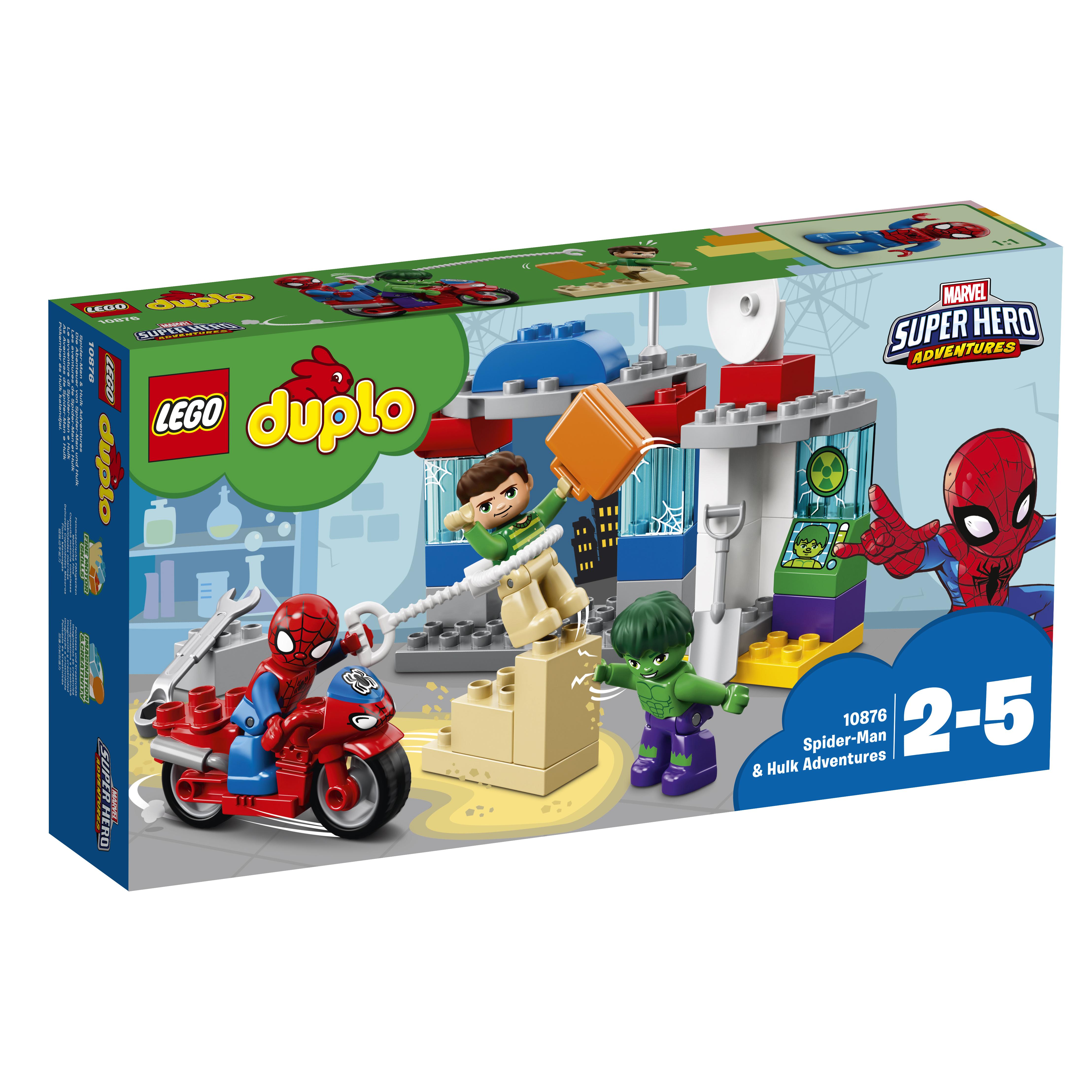 Конструктор LEGO Super Heroes 10876 Приключения Человека-паука и Халка.
