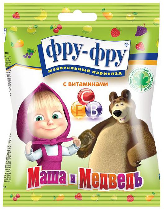 Жевательный мармелад ФРУ-ФРУ Фру-Фру Маша и Медведь 30 г цена