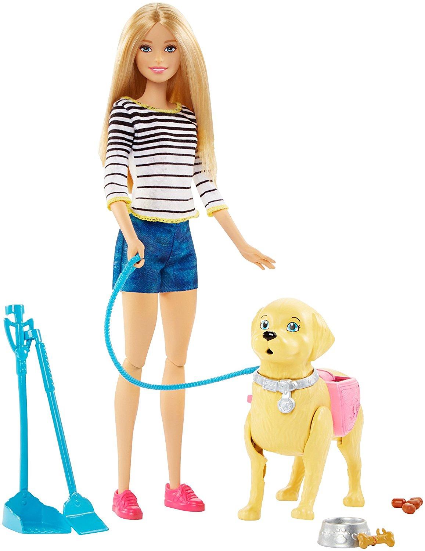 Фото - Barbie Barbie Прогулка с питомцем кукла barbie и собака с новорожденными щенками 29 см fdd43