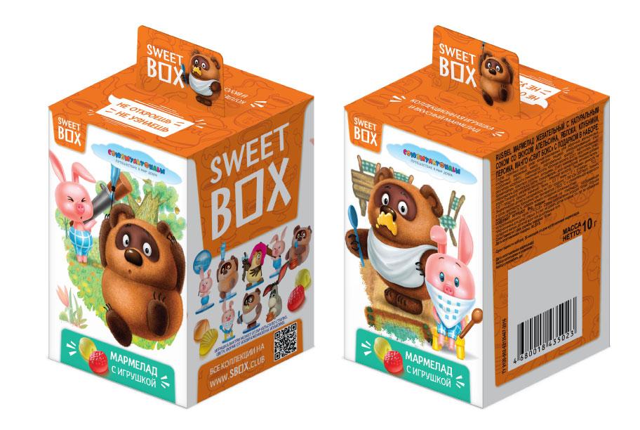 Мармелад с игрушкой Sweet box Винни Пух 10 г