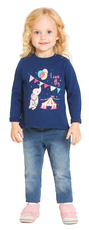 купить Джемпер для девочки Barkito Звёзды цирка темно-синий по цене 199 рублей