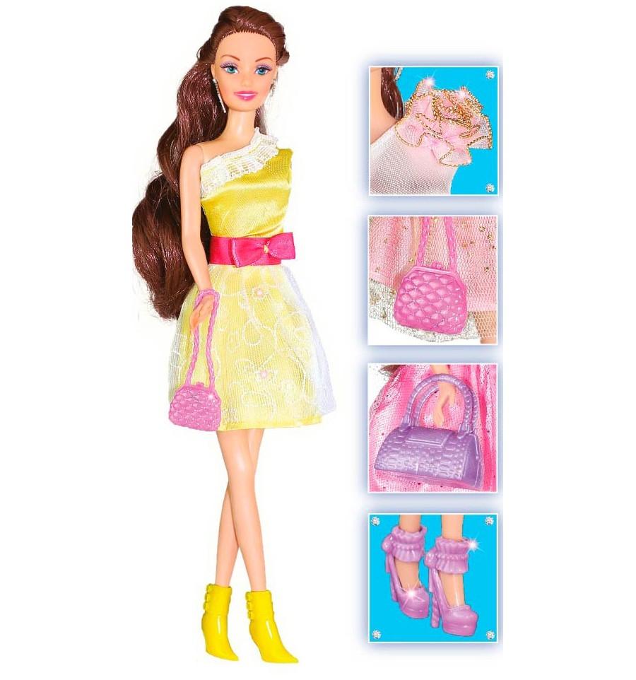 Кукла ToysLab Сверкающий стиль Шатенка, 28 см, 35066 набор кукла ася джинсовая коллекция 28 см дизайн 1 toyslab ася