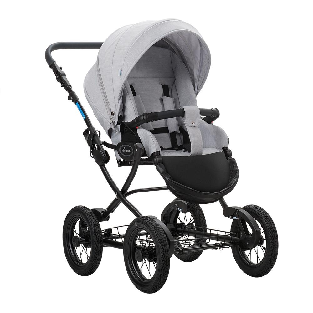 Классическая коляска 2 в 1 Aroteam Cocoline 18 светло-серый цена