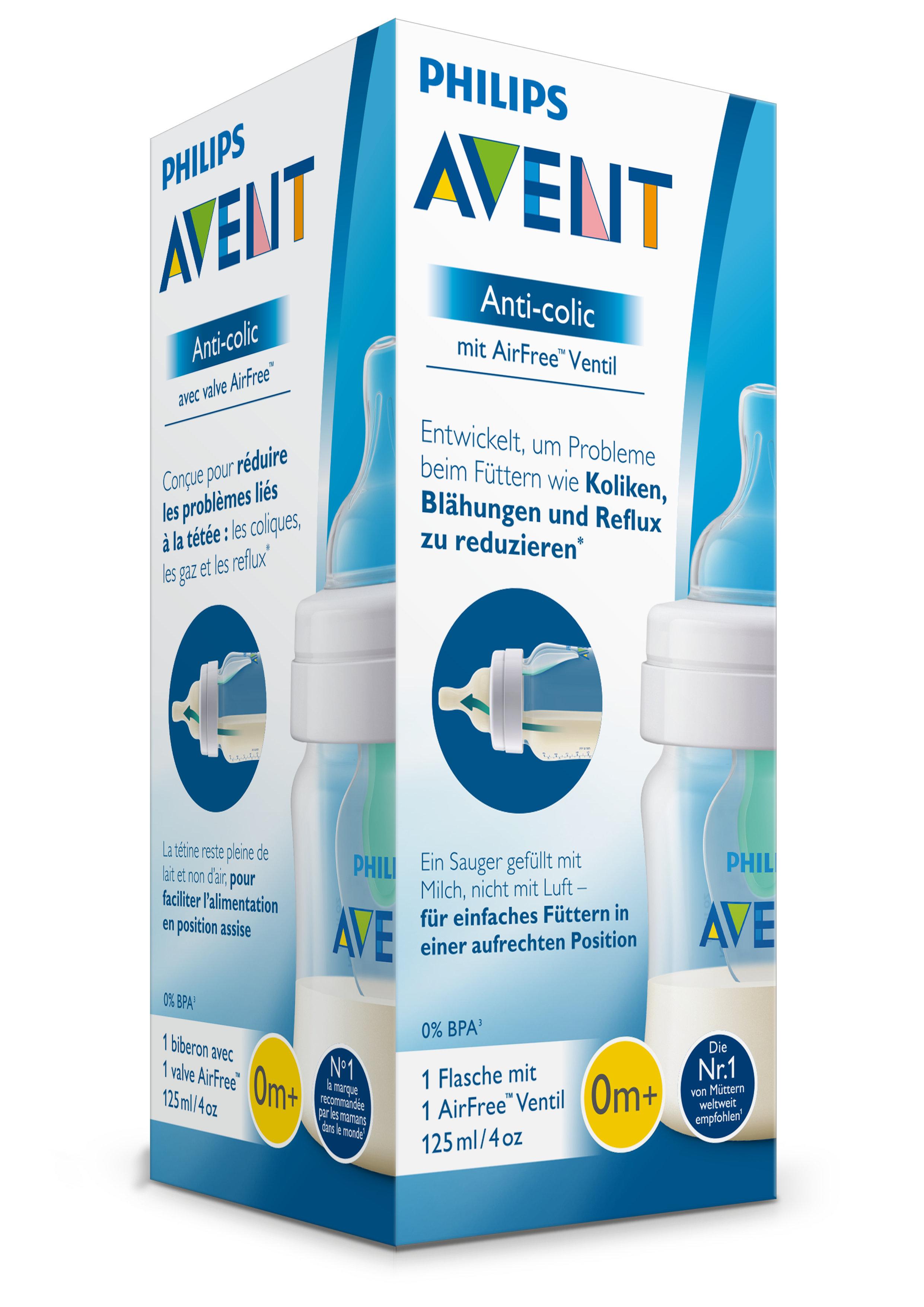 Бутылочка Philips AVENT Anti-colic с клапаном и силиконовой соской Airfree с рождения 125 мл цена и фото