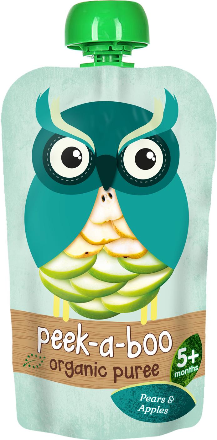 Пюре Peek-a-boo Peek-a-boo Груша яблоко (с 5 месяцев) 113 г фруктовое peek a boo peek a boo яблоко с 4 месяцев 113 г