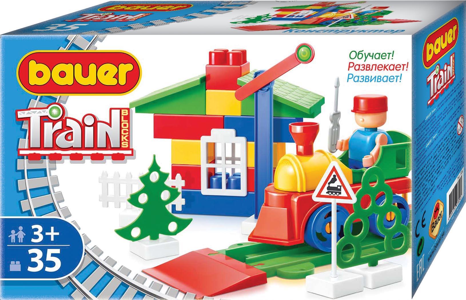 Конструктор Bauer «Train: Стройка/Автодорога» 35 дет. цена