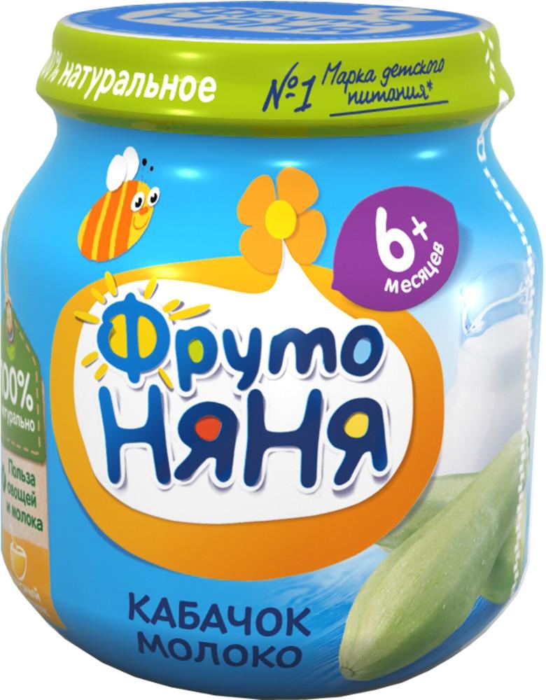 Пюре Прогресс ФрутоНяня Кабачок молоко (с 6 месяцев) пюре фрутоняня кабачок с молоком с 6 мес 100 г
