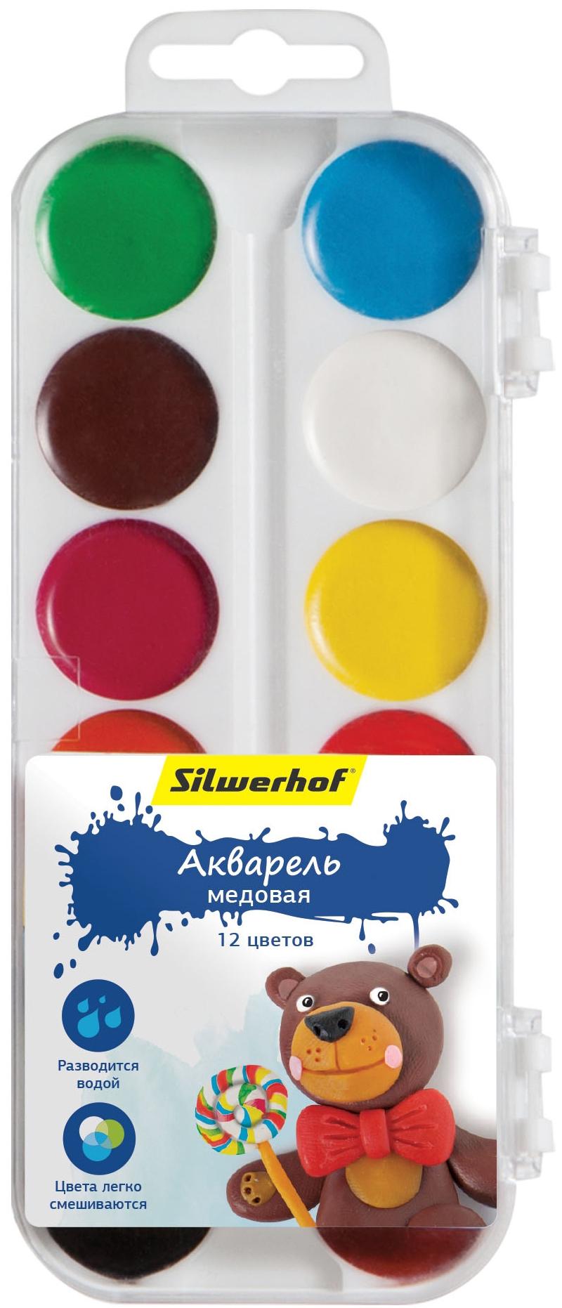 Краски Silwerhof Пластилиновая коллекция 12 цветов silwerhof линейка гнущаяся пластилиновая коллекция 30 см