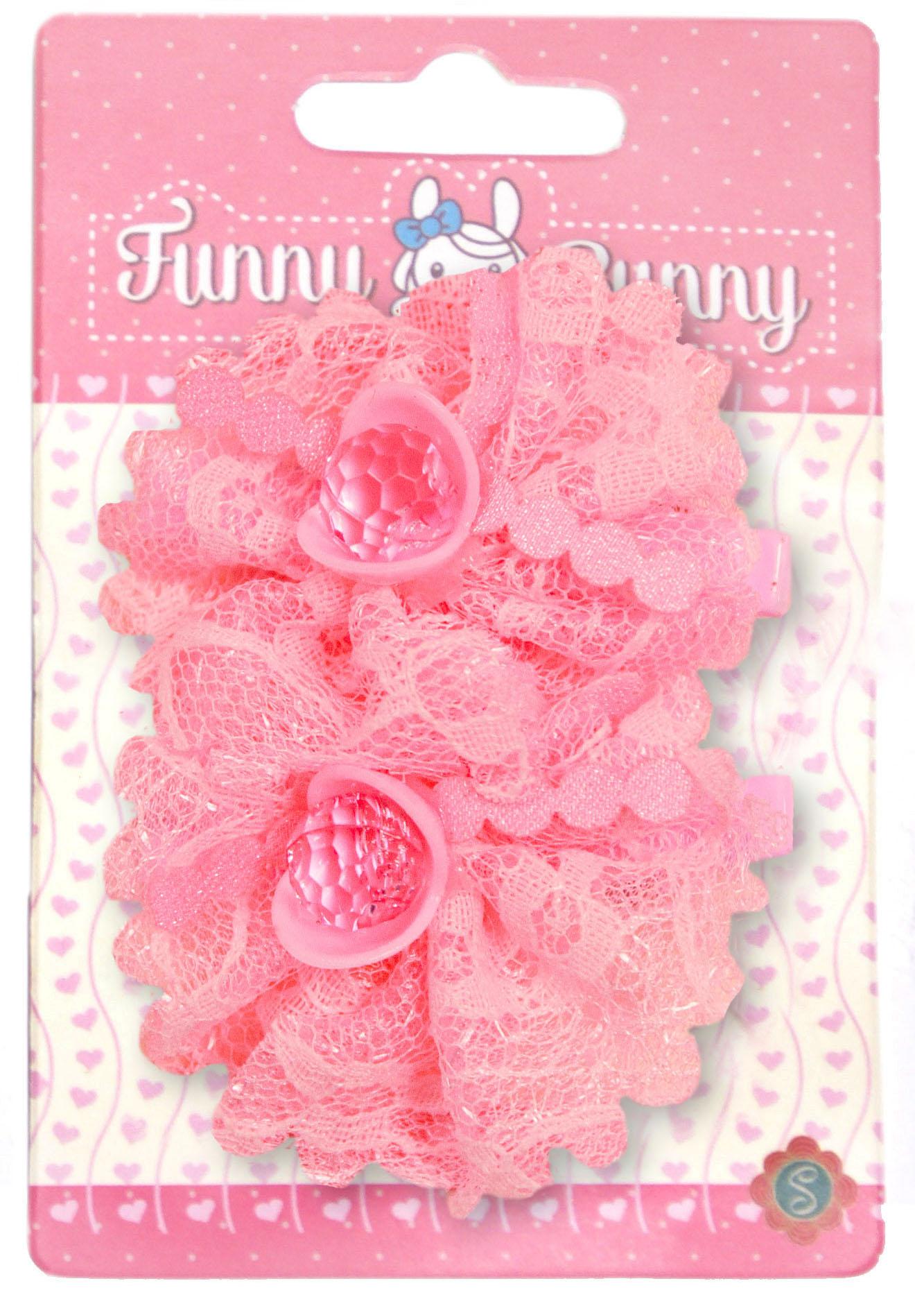 Невидимки для волос Funny Bunny Розовые цветы невидимка для волос funny bunny розовые цветы 2 шт