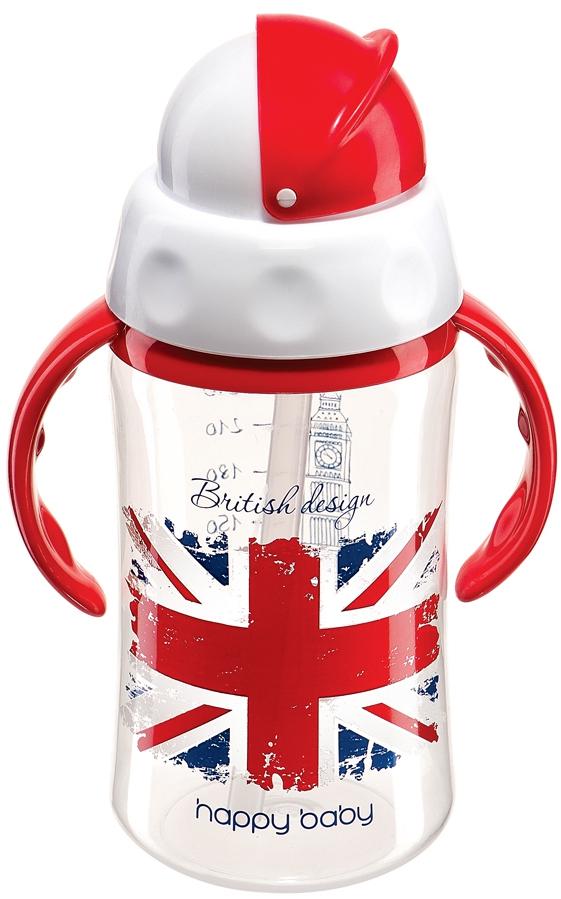 Чашки и поильники Happy baby Поильник Happy Baby «Feeding Cup» с трубочкой с 12 мес. 240 мл в асс. цена