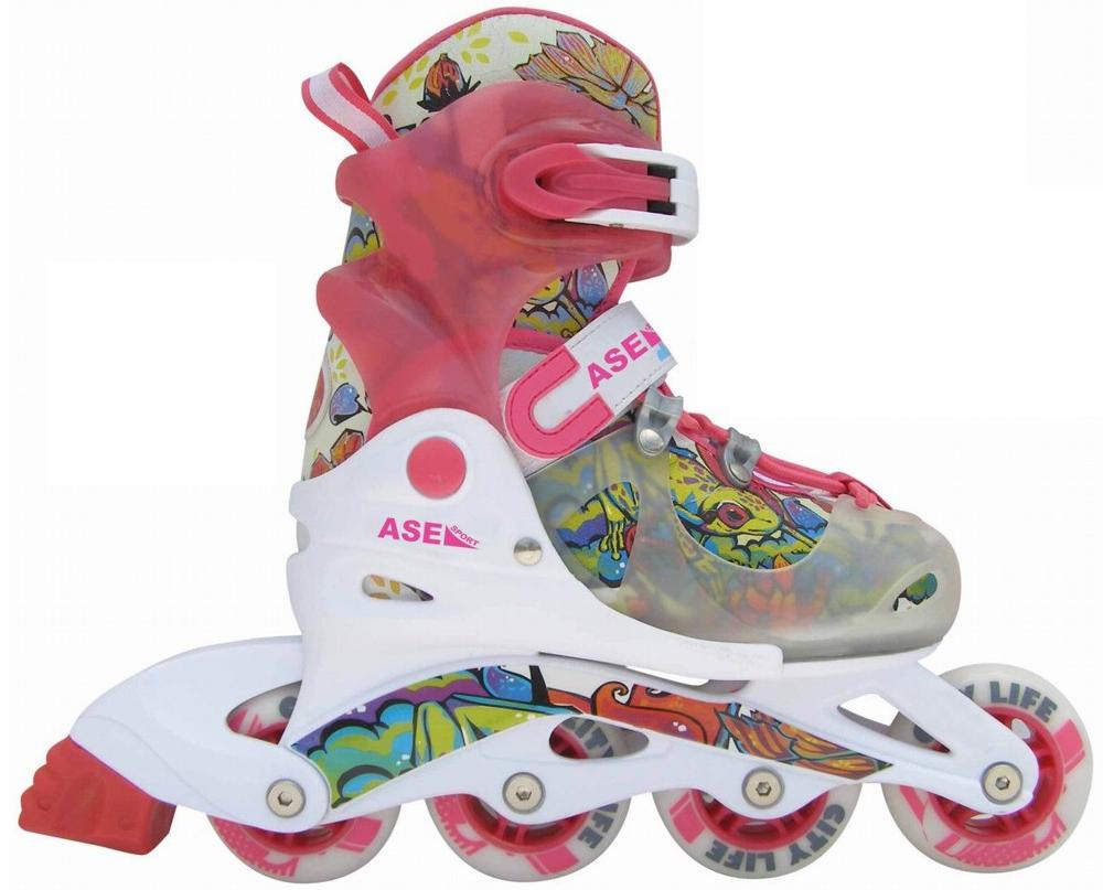 Ролики и скейтборды ASE-SPORT Коньки Ase-Sport S (30-33) коньки ледовые для девочки ice blade solar раздвижные цвет розовый желтый белый размер l 38 41