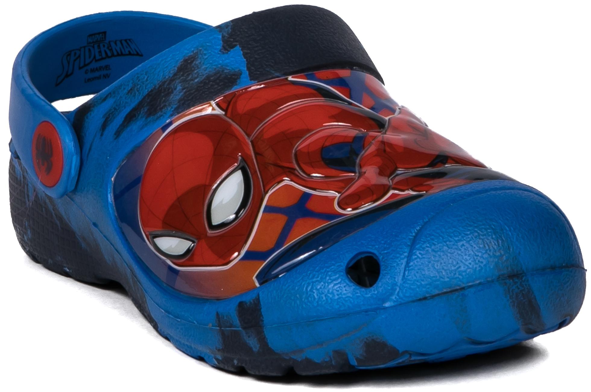 Сланцы (пляжная обувь) Barkito Пантолеты для мальчика для кратковременной носки SPIDER-MAN, синий пантолеты типа сабо для кратковременной носки для мальчика barkito синие