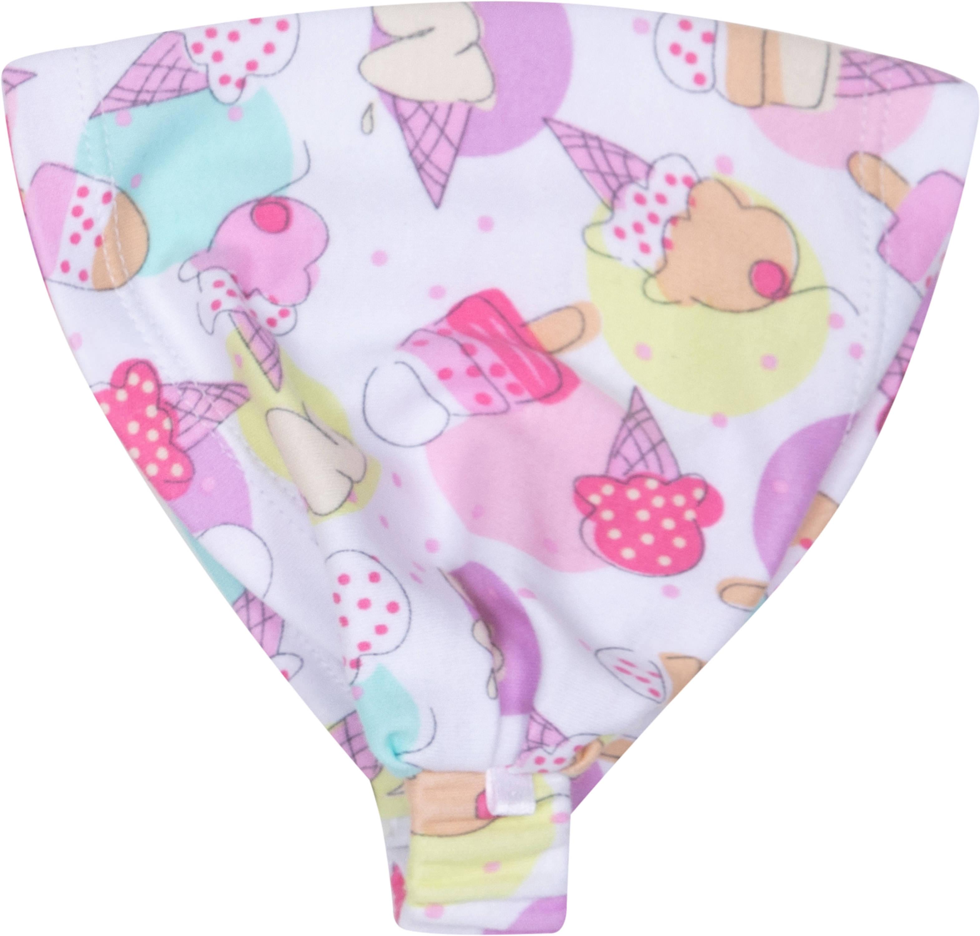 Косынка для девочки Barkito Barkito Маленькие сладости, белая с рисунком мороженое банданы babycollection косынка