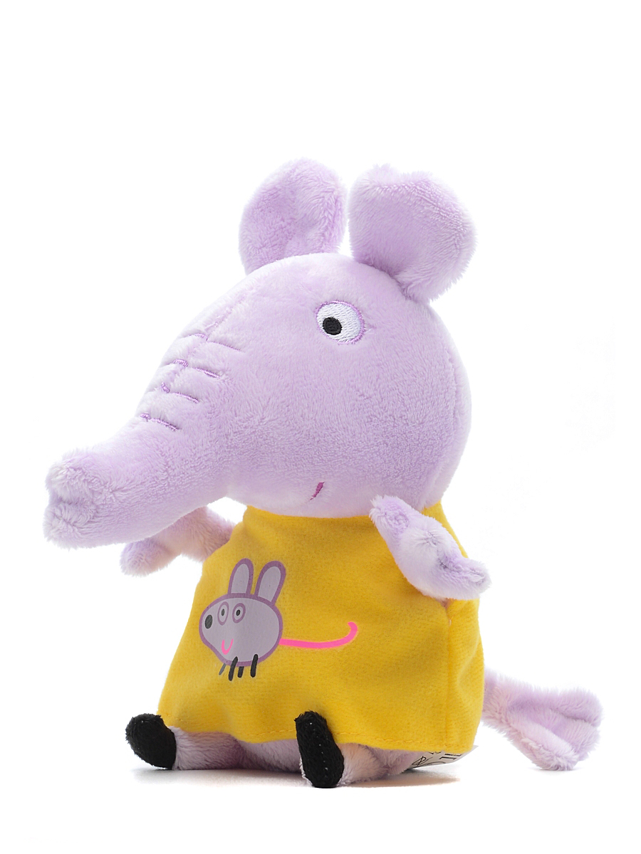 Купить Peppa Pig, Слон Эмили 20 см, Китай, серый, желтый, Женский
