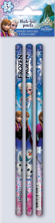 Набор чернографитных карандашей Frozen Frozen 3 шт bic набор чернографитных механических карандашей matic цвет красный 3 шт