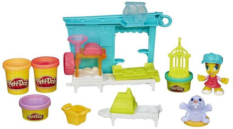 Игровой набор Hasbro набор Play-Doh Город Магазинчик домашних питомцев набор для творчества play doh город пожарная станция
