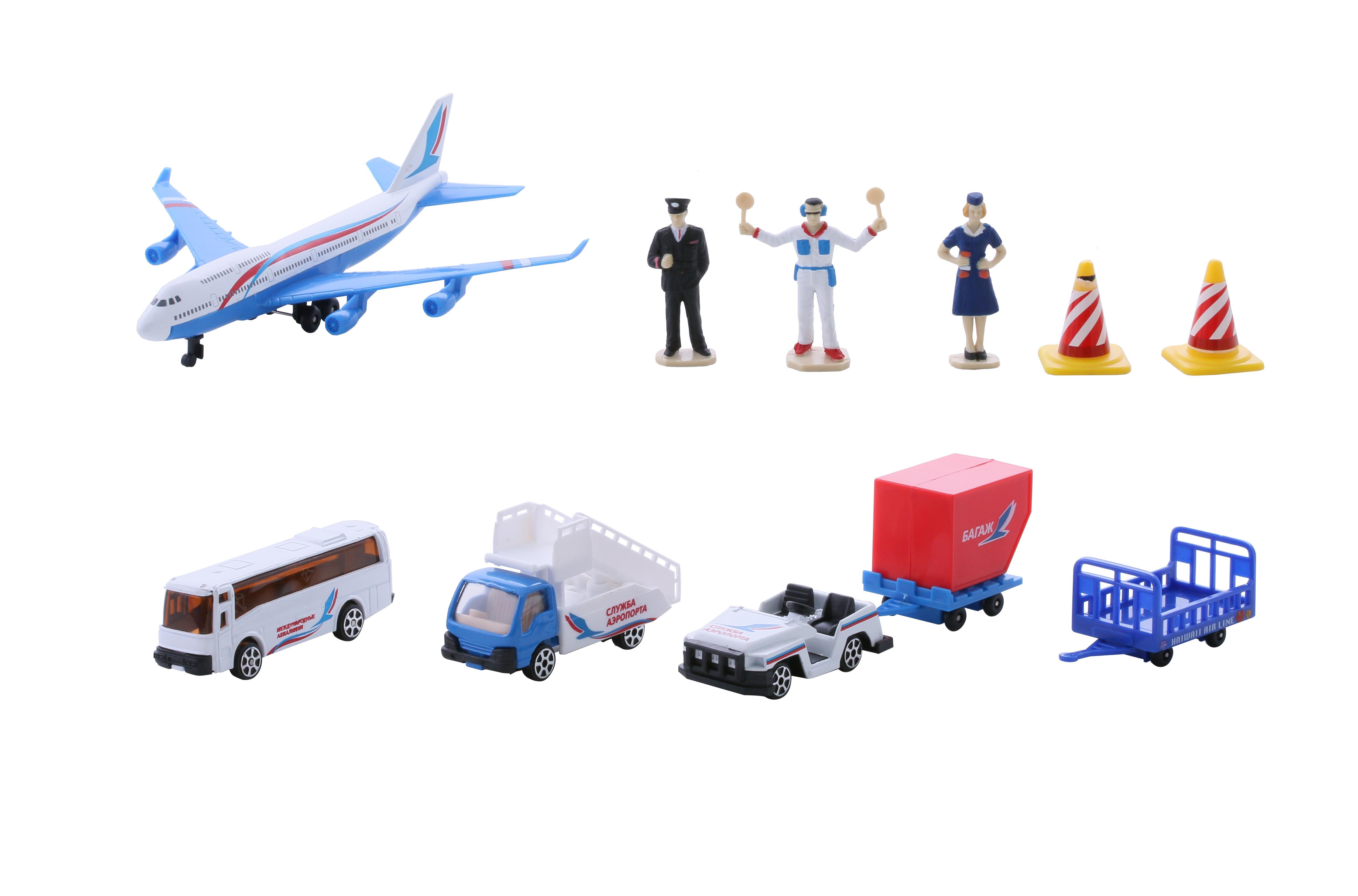 Самолеты и вертолеты WinCars Игровой набор Wincars «Аэропорт» с аксессуарами 1:100 dickie toys игровой набор фигурки с аксессуарами