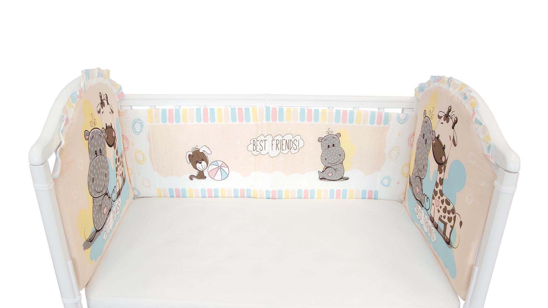 Постельное белье для малышей Baby Nice Лучшие друзья цена