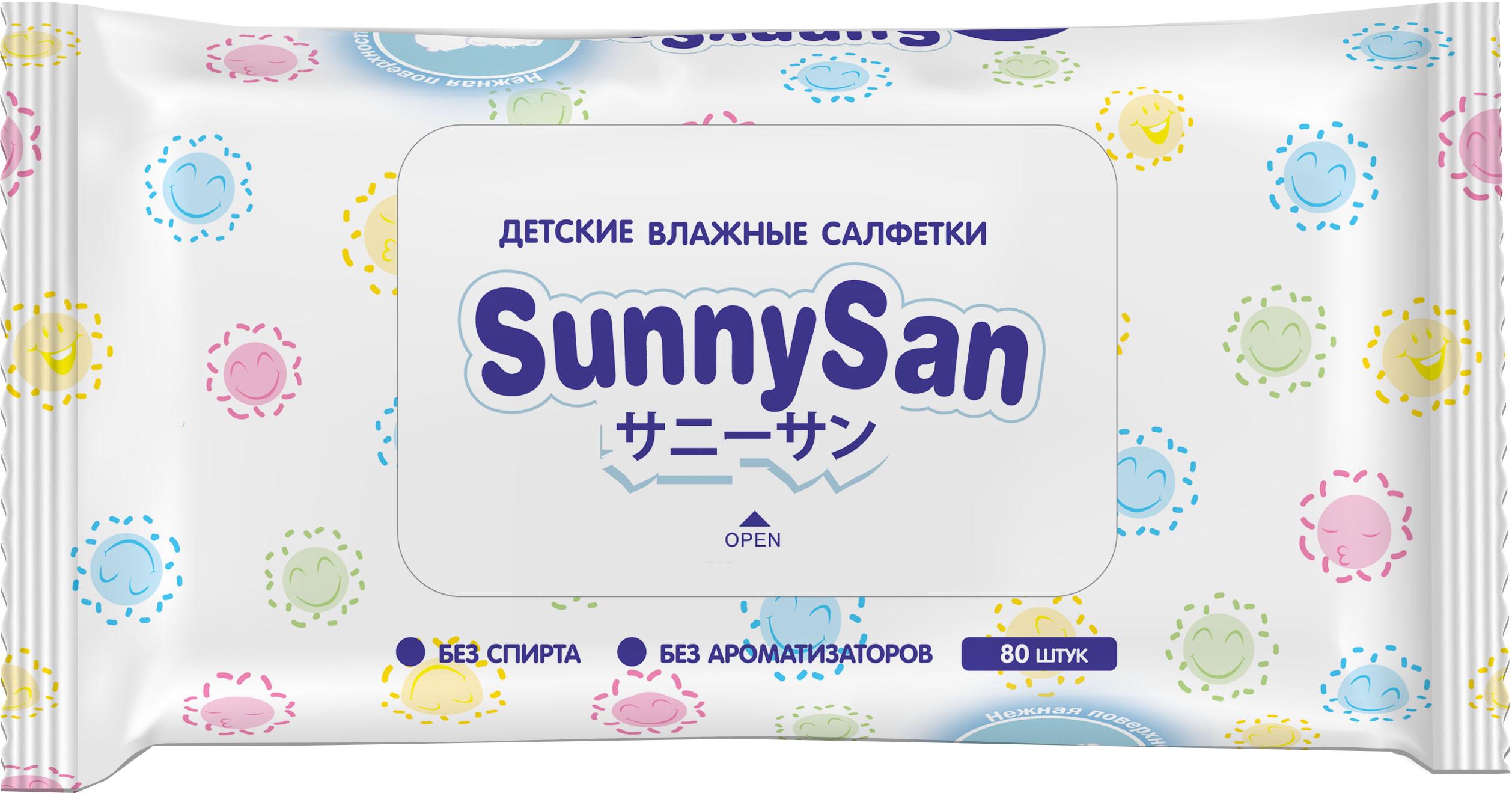 Влажные салфетки SunnySan SunnySan 80 шт