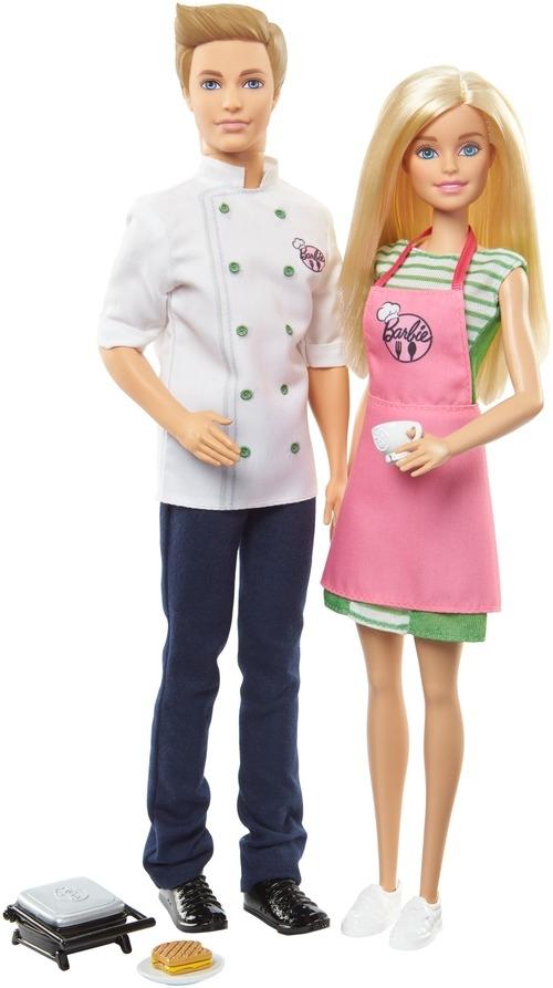 Игровой набор Barbie Барби и Кен-шеф повар barbie аксессуар для кукол дневной и вечерний наряд fnd47 fkt09