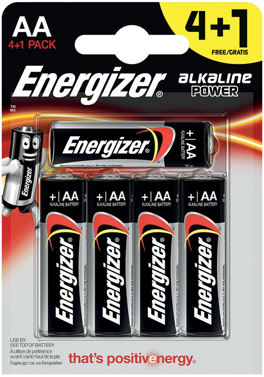 Элементы питания Energizer Батарейка Energizer «Alkaline Power» AA 4 плюс 1 шт. energizer aa hr06 2300mah 4шт