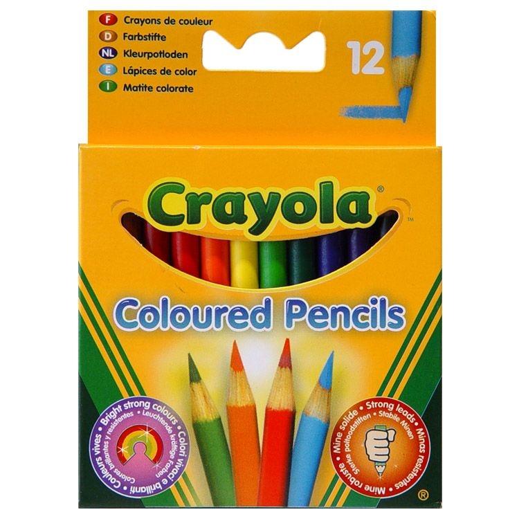 Ручки и карандаши Crayola Короткие 12шт ручки и карандаши cars набор цветных карандашей disney cars 12 шт