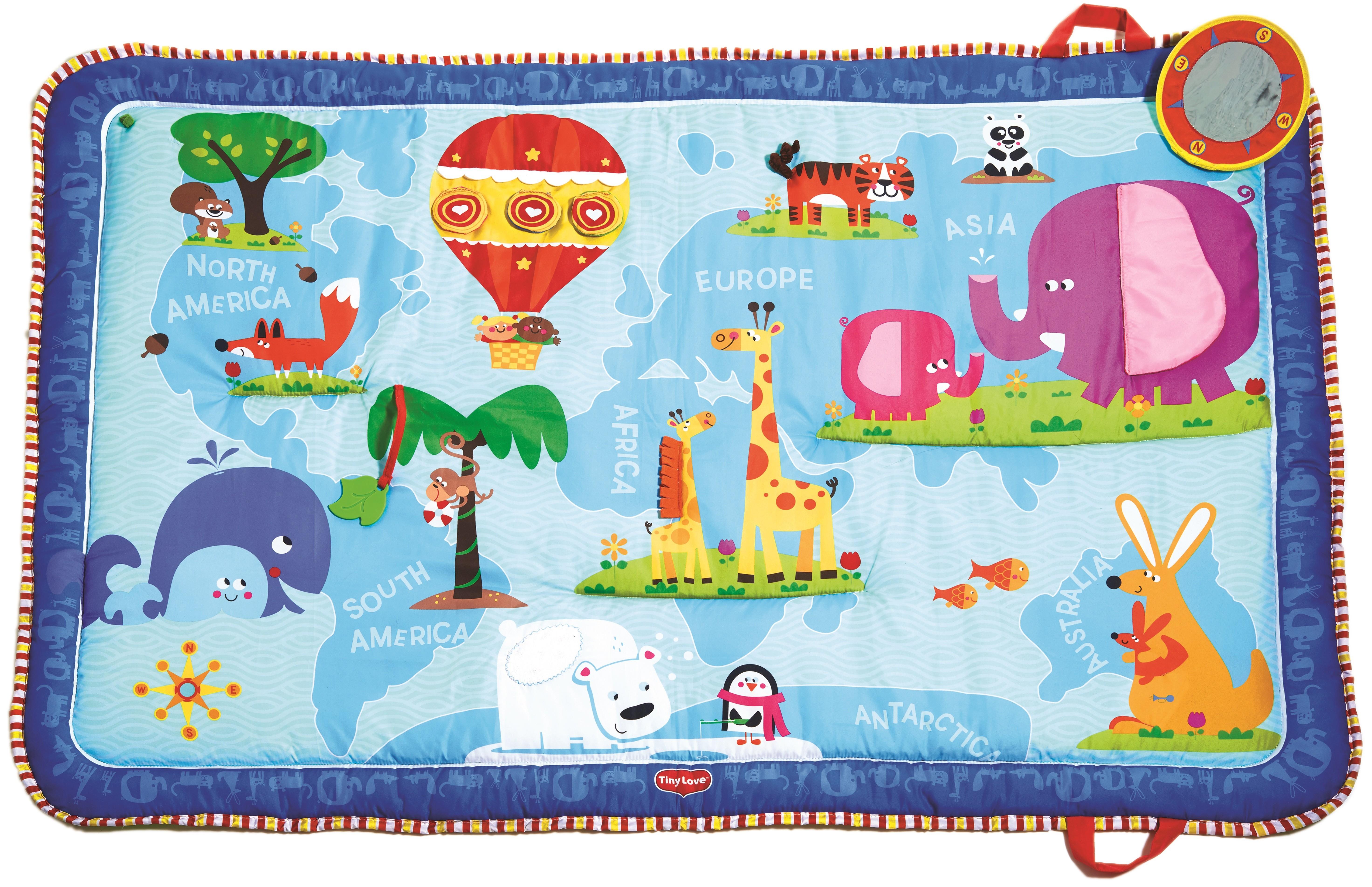 Купить Развивающие коврики, Travel - моя планета, Tiny Love, Китай, сине-голубой