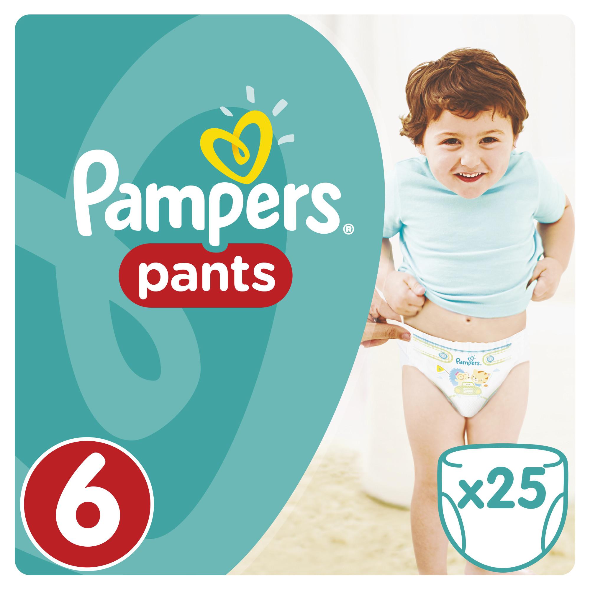 Подгузники-трусики Pampers Трусики-подгузники Pampers Pants 6 Extra Large (от 16 кг) 25 шт.