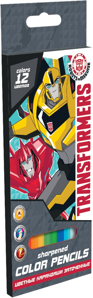 Набор цветных карандашей Transformers Transformers 12 шт