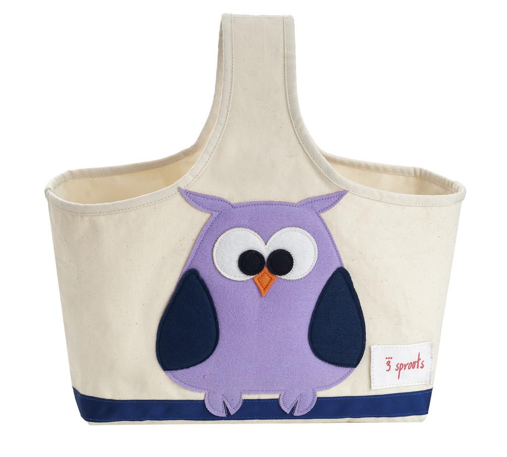 Ящики и корзины для игрушек 3 Sprouts Сумочка для хранения 3 Sprouts «Purple Owl» 3 sprouts сумочка для хранения детских принадлежностей бобр orange beaver 3 sprouts