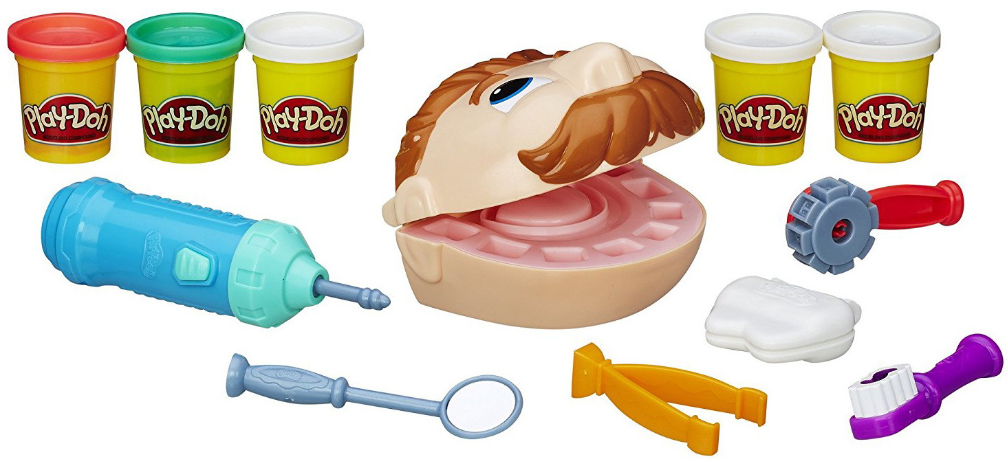 Пластилин Play-Doh Мистер Зубастик (Новая версия) набор для лепки мистер зубастик play doh