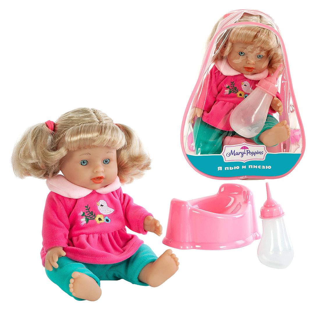 Другие куклы Mary Poppins Кукла Mary Poppins «Лизи: Пью и писаю» 30 см mary poppins mary poppins кукла интерактивная я морщу носик маша page 1