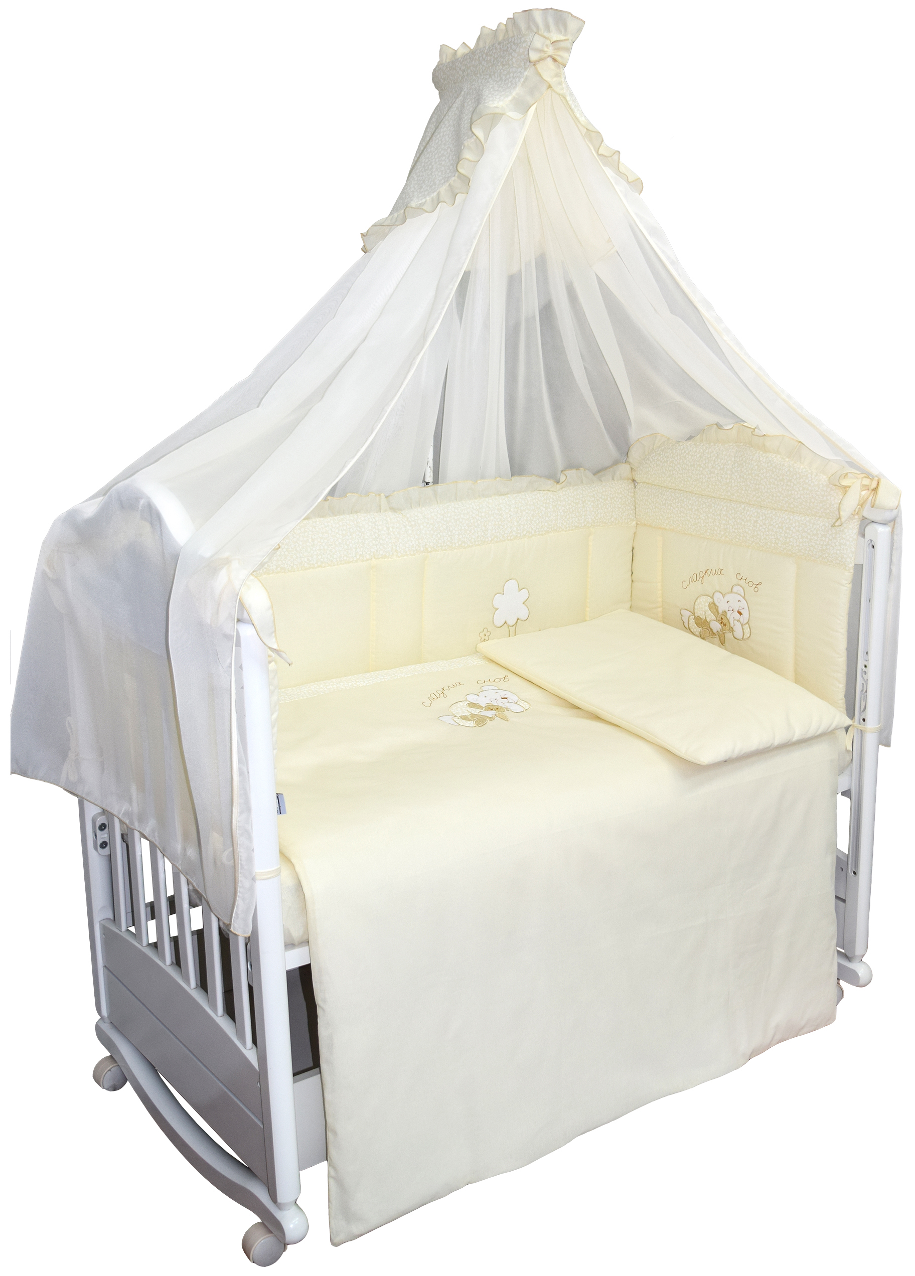 Комплект в кроватку L'Abeille Светик 7 пр. карман на кроватку bombus светик желтый