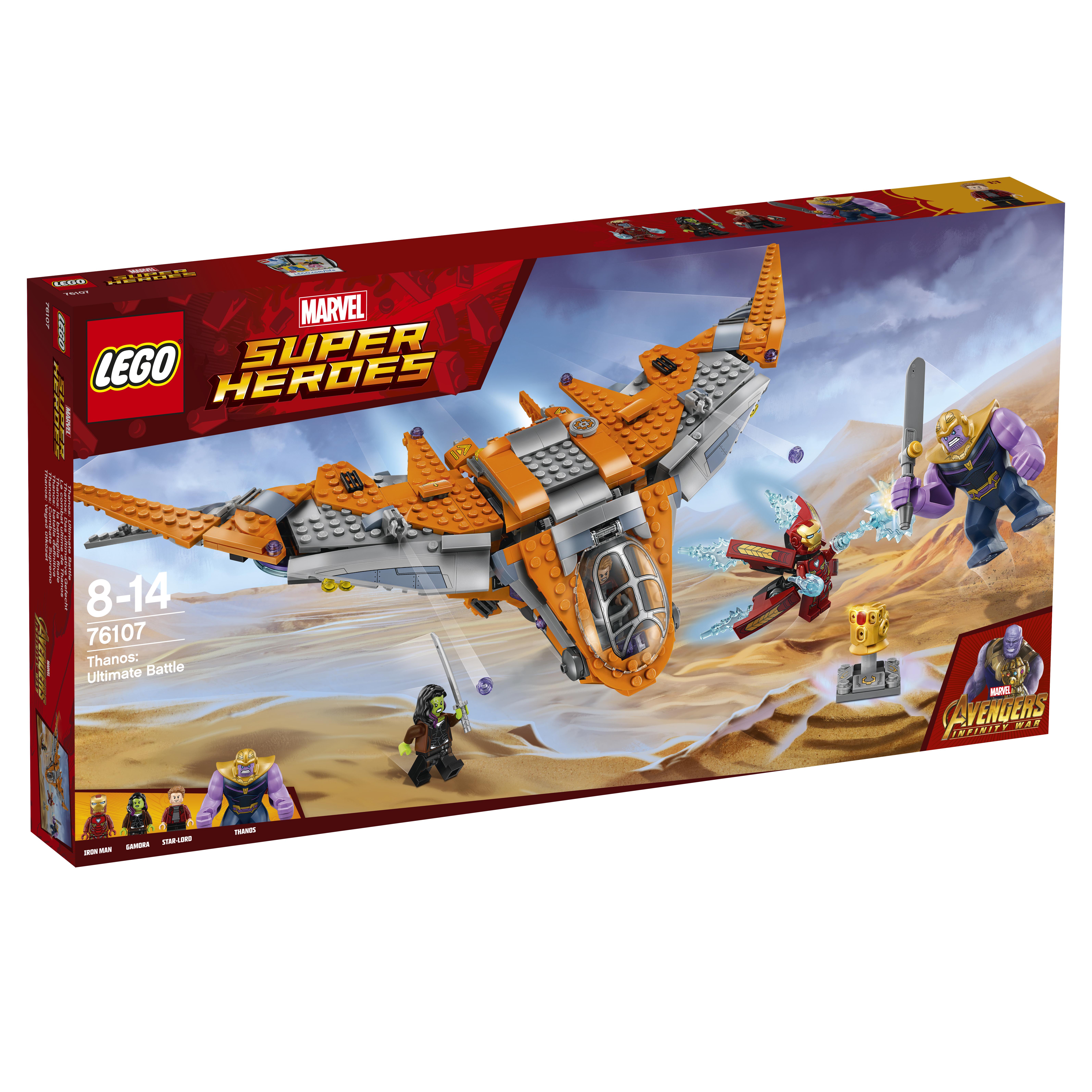 Конструктор LEGO 76107 Танос: последняя битва конструктор lego танос