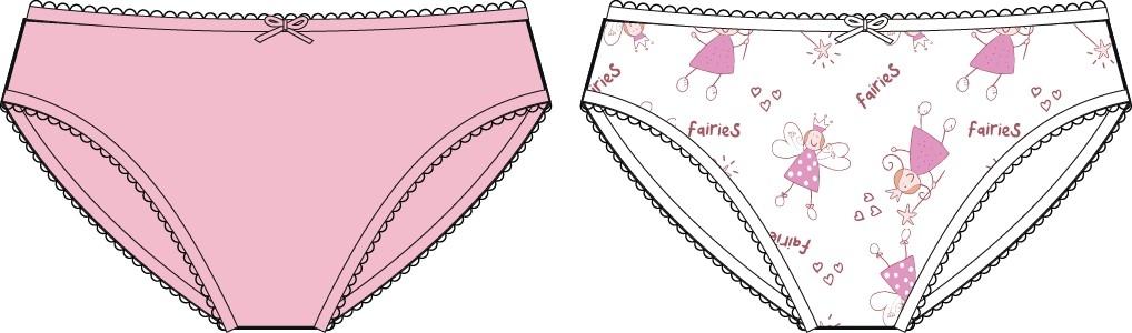 Нижнее белье Barkito Трусы для девочки, 2 шт., Barkito Бельё SS18, белые с рисунком, розовые нижнее бельё