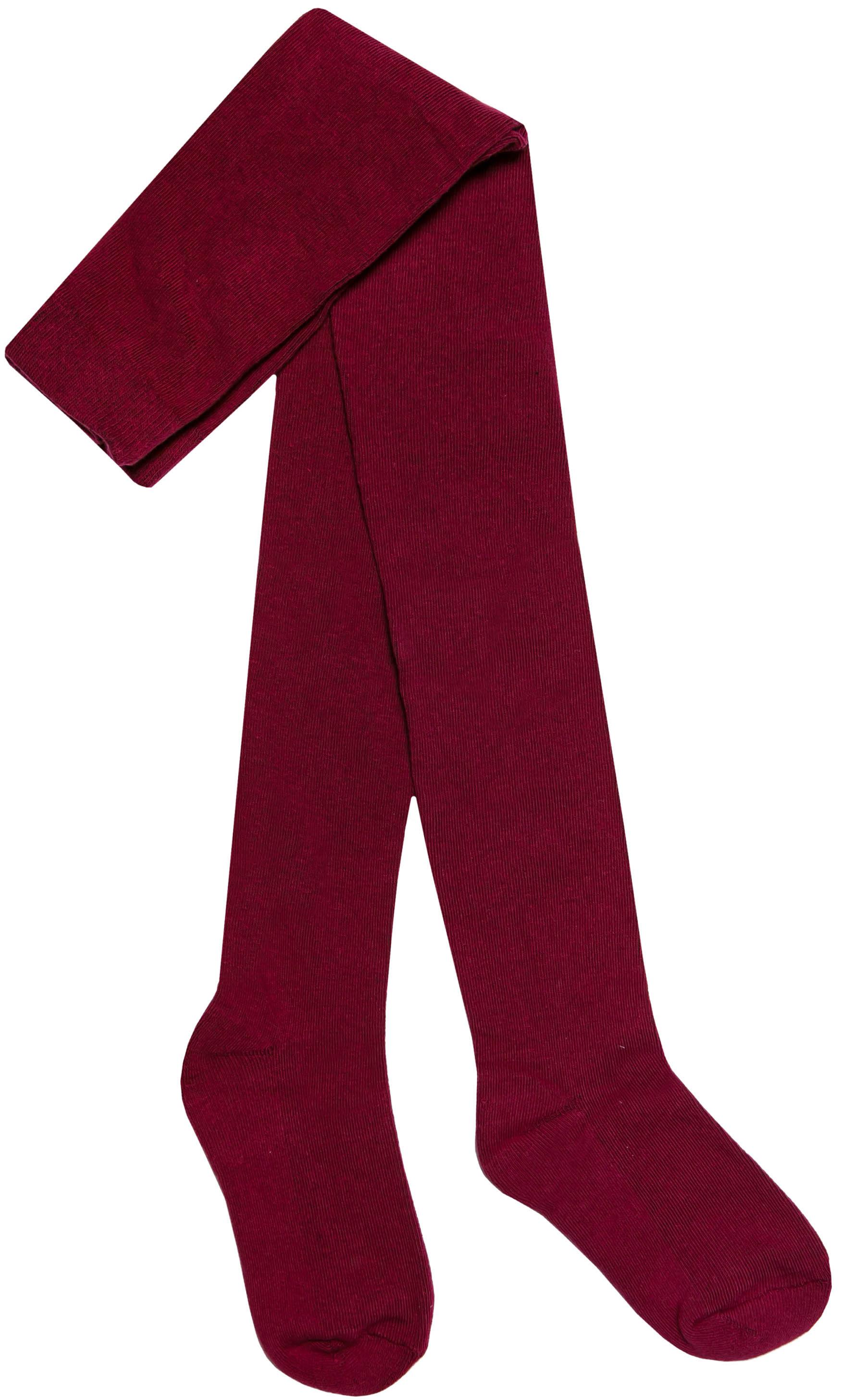 Купить Колготки с махровым следом для девочки Barkito, бордовые, Китай, Женский