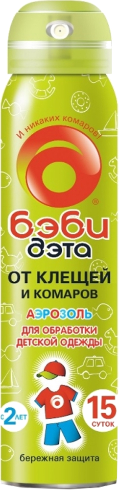 Аэрозоль от клещей и комаров БэбиДэта 100 мл