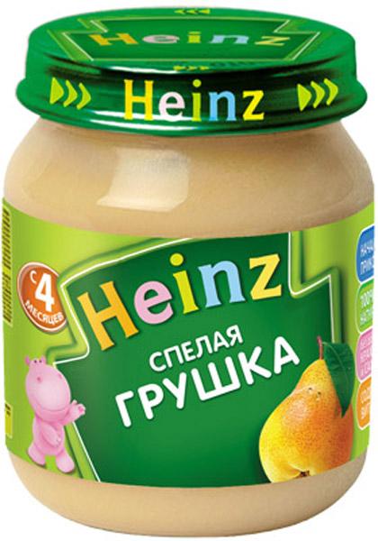 Пюре Heinz Пюре Heinz Груша 4 мес. 120 г пюре heinz фруктовое 120 гр грушка и черничка с печеньем с 6 мес