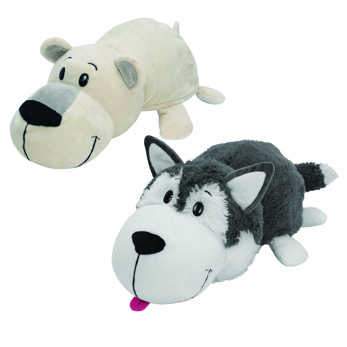 Мягкая игрушка 1Toy Вывернушка Хаски-Полярный медведь 40 см - купить ... 1d9196a8d91fb