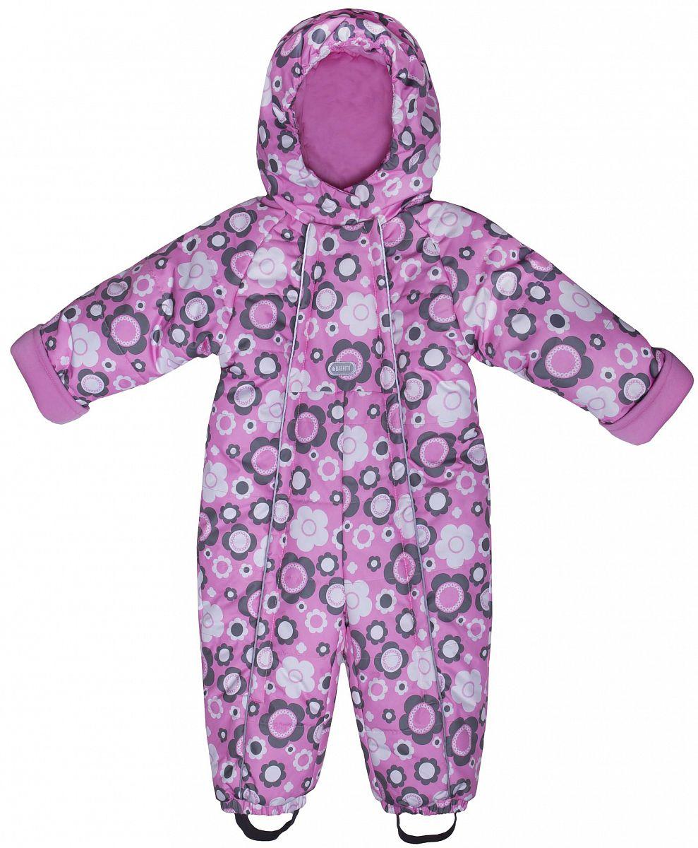 8619544cf69d Комбинезон зимний для девочки Barkito, розовый с рисунком цветы - купить в  Москве: цены в интернет-магазине Кораблик