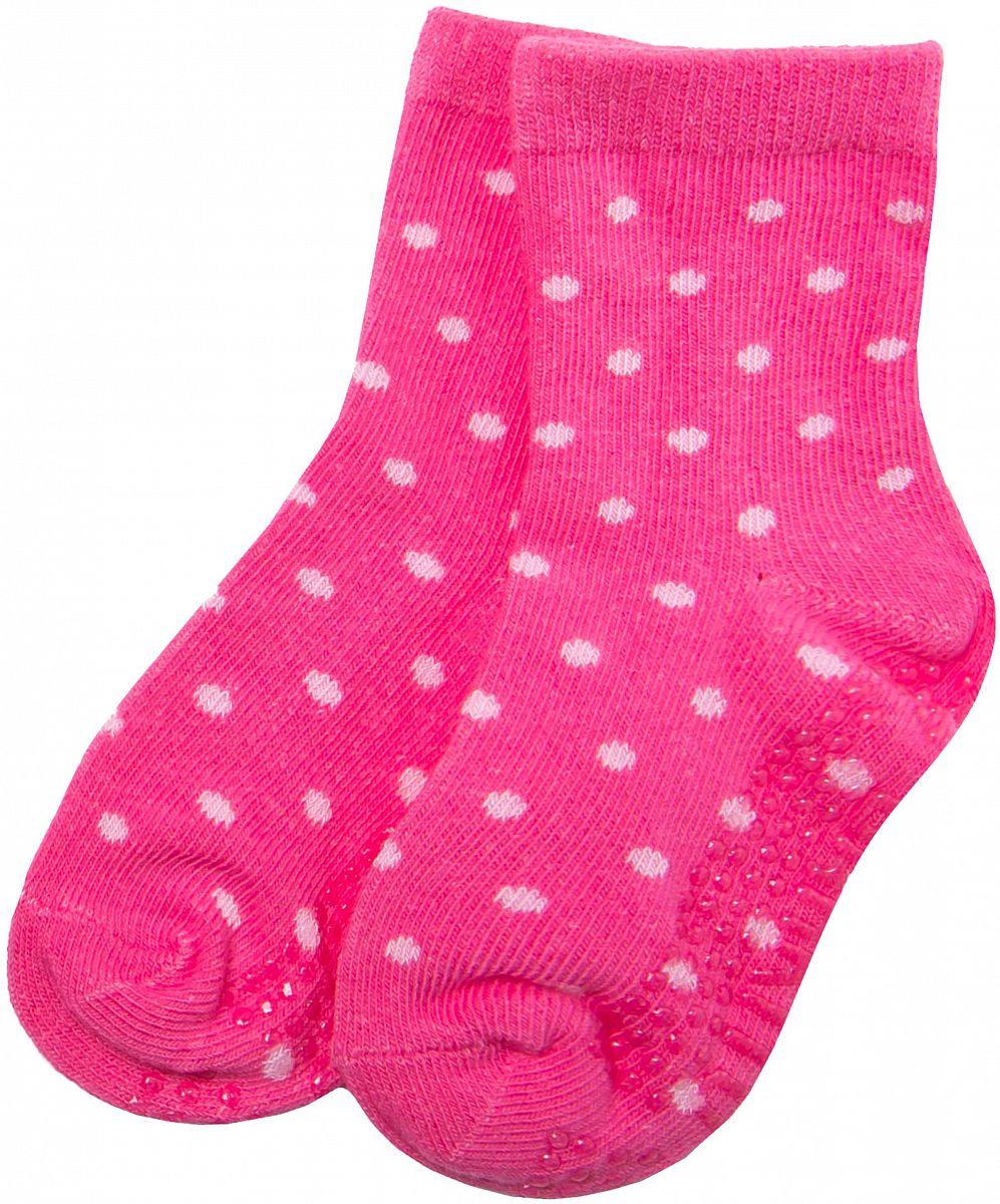 6edd55a4bced3 Носки антискользящие для девочки Barkito, малиновый с рисунком в горошек -  купить в Москве: цены в интернет-магазине Кораблик