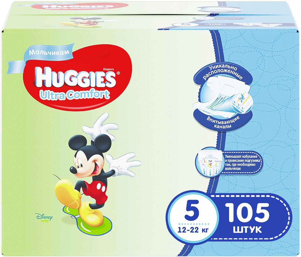 Подгузники Huggies Ultra Comfort для мальчиков 5 (12-22кг) 105 шт ... ad8ad3bc5c3