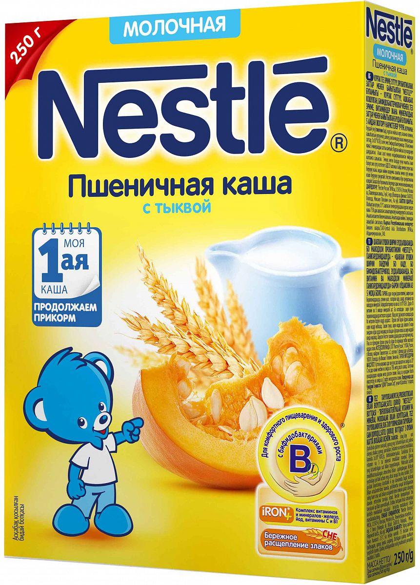 9c4ab3f2ede0e3 ... Каша молочная Nestle пшеничная с тыквой с 5 мес. 250 г · 3 отзыва.  Артикул: 163.020095