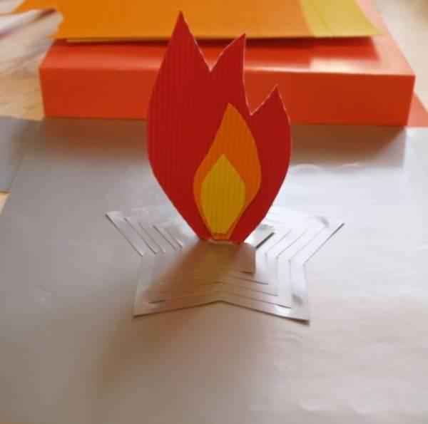 Вечный огонь своими руками из бумаги мастер класс фото самые красивые 16